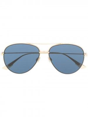Солнцезащитные очки-авиаторы Dior Eyewear. Цвет: золотистый