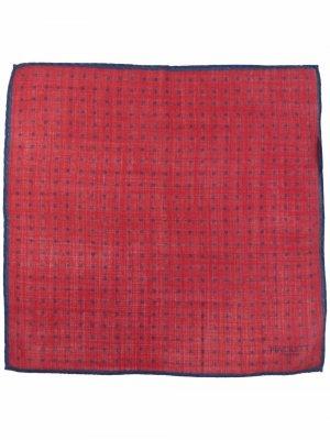 Шерстяной шарф в горох Hackett. Цвет: красный