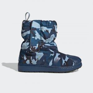 Зимние сапоги Superstar Originals adidas. Цвет: черный