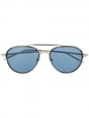 Солнцезащитные очки-авиаторы Matsuda. Цвет: серебристый