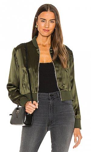 Куртка frankie Amanda Uprichard. Цвет: оливковый