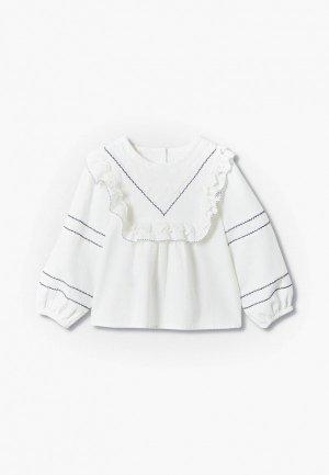 Блуза Mango Kids BROOKE. Цвет: белый
