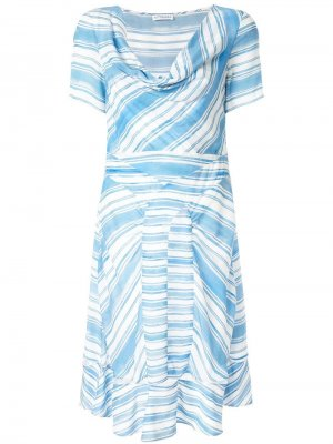 Платье в полоску Lucia Altuzarra. Цвет: синий