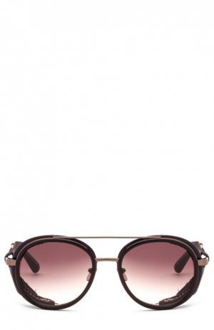 Солнцезащитные очки Frency&Mercury. Цвет: темно-коричневый