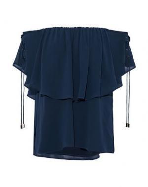 Блузка HAUTE HIPPIE. Цвет: темно-синий