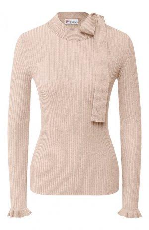 Пуловер из смеси хлопка и вискозы REDVALENTINO. Цвет: розовый