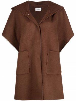 Кейп с короткими рукавами и капюшоном P.A.R.O.S.H.. Цвет: коричневый