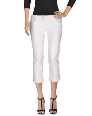 Джинсовые брюки-капри CYCLE. Цвет: белый