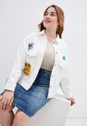Куртка джинсовая Grafinia. Цвет: белый