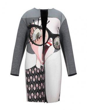 Легкое пальто ANDREA TURCHI. Цвет: серый