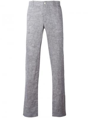 Классические брюки чинос Corneliani. Цвет: серый