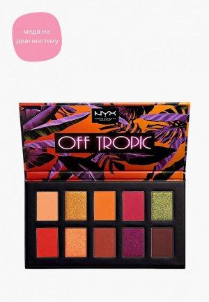 Палетка для глаз Nyx Professional Makeup Off Tropic, оттенок 02, Shifting Sand, 10 г. Цвет: разноцветный