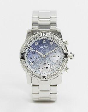 Часы-браслет с хронографом -Серебристый Guess