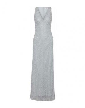 Длинное платье BADGLEY MISCHKA. Цвет: серебристый