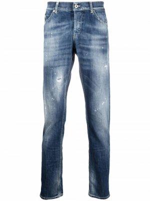 Прямые джинсы средней посадки Dondup. Цвет: синий