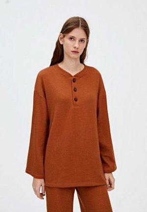 Пуловер Pull&Bear. Цвет: коричневый
