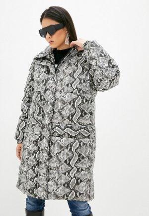 Куртка утепленная Just Cavalli. Цвет: серый