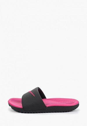 Сланцы Nike GIRLS KAWA (GS/PS) SLIDE. Цвет: черный