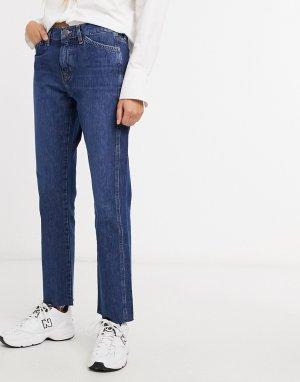 M.i.h. Культовые прямые джинсы средней посадки синего цвета-Синий MiH Jeans