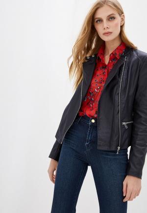 Куртка кожаная DKNY. Цвет: фиолетовый