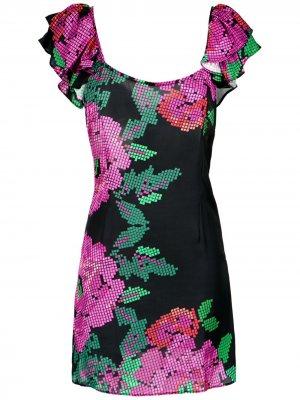 Floral print dress Amir Slama. Цвет: розовый