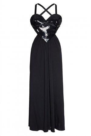 Черное платье Amore Azzaro. Цвет: черный