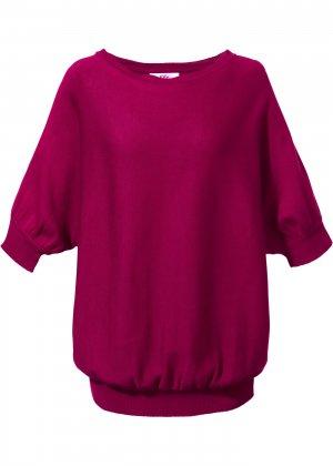 Пуловер с круглым вырезом bonprix. Цвет: лиловый
