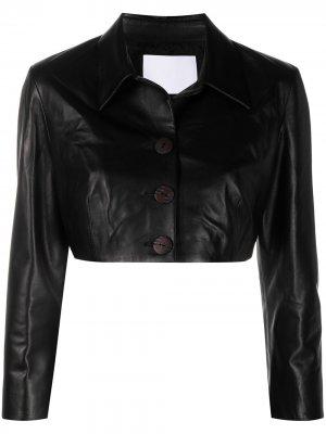 Укороченная куртка Drome. Цвет: черный