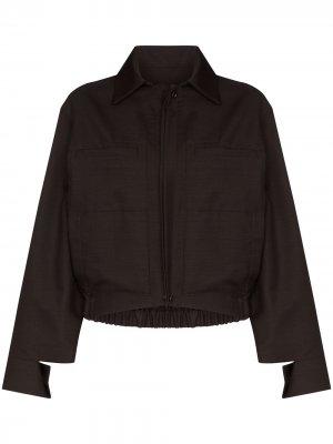Куртка-бомбер EFTYCHIA. Цвет: коричневый