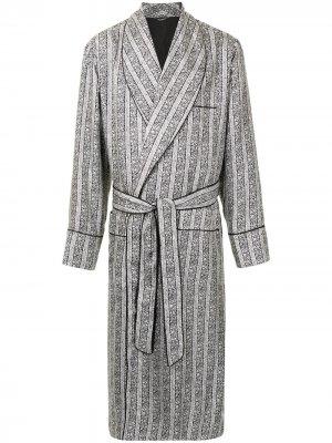 Халат с цветочным принтом Dolce & Gabbana. Цвет: черный