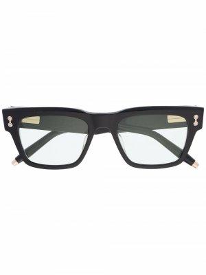 Солнцезащитные очки Columba с затемненными линзами Akoni. Цвет: черный