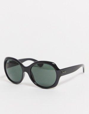 Черные круглые солнцезащитные очки Ray Ban-Черный Ray-Ban