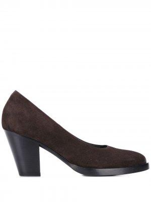 Туфли-лодочки на каблуке средней высоты A.F.Vandevorst. Цвет: коричневый