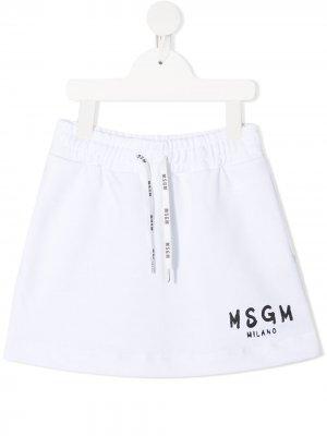 Logo print skirt Msgm Kids. Цвет: белый