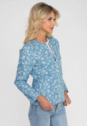 Куртка Gloss. Цвет: голубой