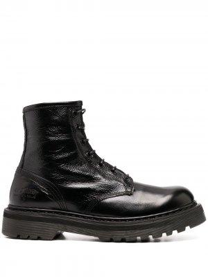Массивные ботинки на шнуровке Premiata. Цвет: черный
