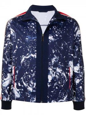 Спортивная куртка на молнии с принтом Ports V. Цвет: синий