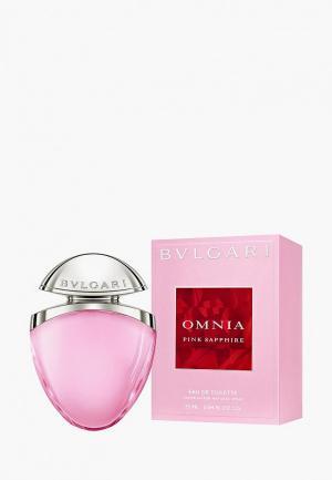 Туалетная вода Bvlgari Omnia Pink Sapphire, 25 мл ювелирная коллекция. Цвет: прозрачный