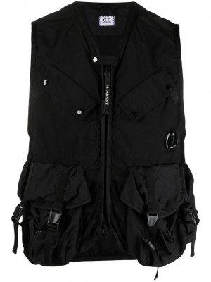 Жилет на молнии с карманами карго C.P. Company. Цвет: черный