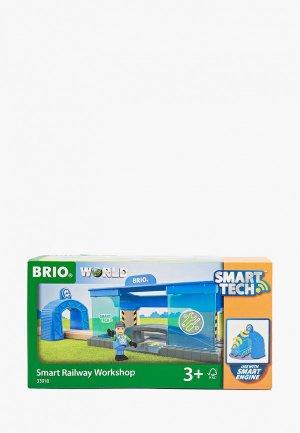Набор игровой Brio Smart Tech, Вагоноремонтная мастерская. Цвет: голубой