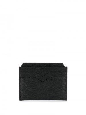 Фактурный кошелек-картхолдер Valextra. Цвет: черный
