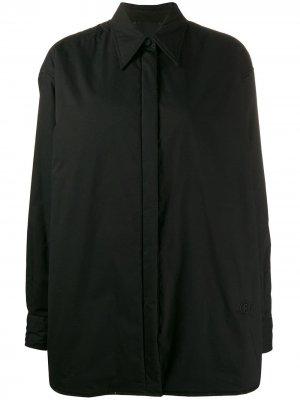 Утепленная куртка-рубашка Mm6 Maison Margiela. Цвет: черный