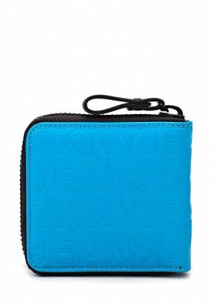 Кошелек DKNY Jeans DK007BMKH067. Цвет: голубой