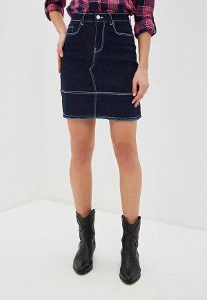 Юбка джинсовая Top Secret. Цвет: синий