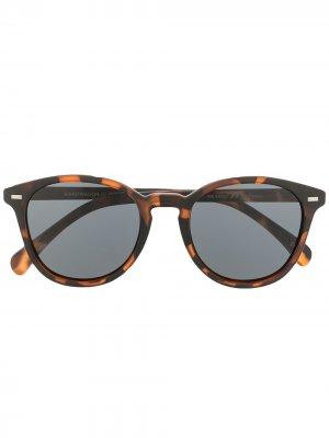 Солнцезащитные очки Bandwagon в круглой оправе Le Specs. Цвет: коричневый