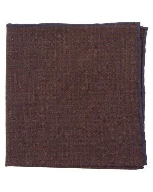 Платок 979PC0012-18 UNI коричневый+тем.синий Eleventy. Цвет: коричневый+тем.синий