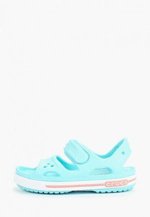 Сандалии Crocs Crocband II Sandal PS. Цвет: голубой