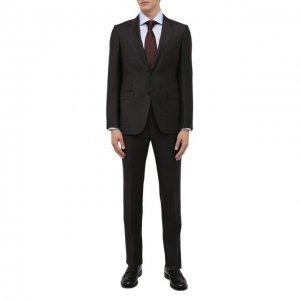 Шерстяной костюм Ermenegildo Zegna. Цвет: коричневый