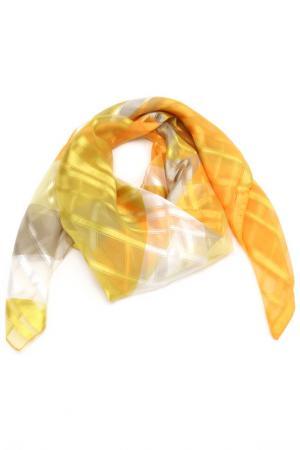Платок F.FRANTELLI. Цвет: лайм, апельсин, серый