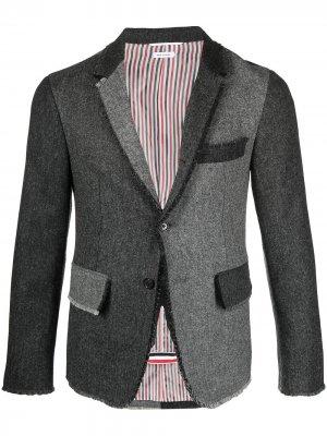 Пиджак в технике пэчворк Thom Browne. Цвет: серый